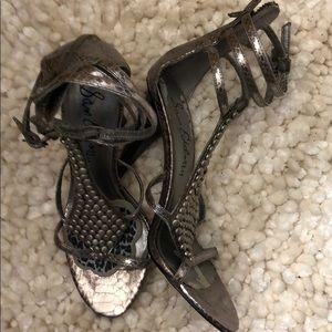 Gladiator style hi heel sandals